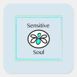 Empfindlicher Soul-Aufkleber Quadratischer Aufkleber