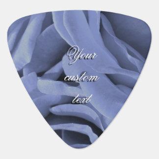 Empfindliches hellblaues graues Rosen-Blumen-Foto Plektrum
