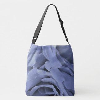 Empfindliches hellblaues graues Rosen-Blumen-Foto Tragetaschen Mit Langen Trägern