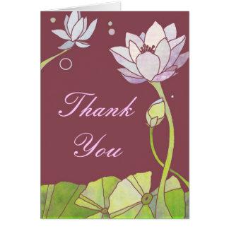 Empfindliches Zen-Lotus-Geschäft danken Ihnen Mitteilungskarte