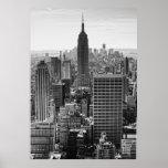 Empire State Building d'horizon de ville de NY, WT Posters