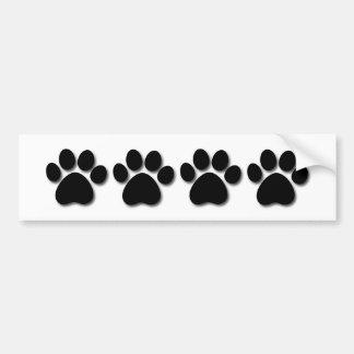 Empreinte de patte espiègle de chien pour le BLANC Autocollant De Voiture