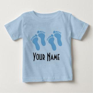 Empreintes de pas de bébé personnalisées par t-shirt pour bébé