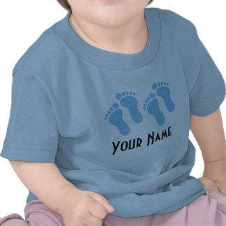 Empreintes de pas de bébé personnalisées par t-shirt