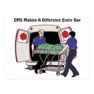 EMS, der einen Unterschied jeden Tag macht Postkarte