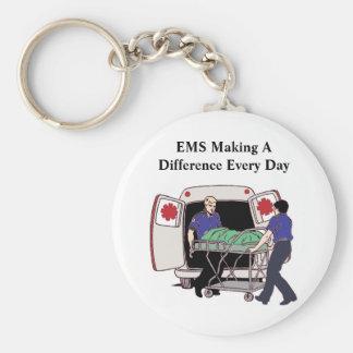 EMS, der einen Unterschied jeden Tag macht Standard Runder Schlüsselanhänger