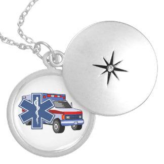 Ems-Krankenwagen Runde Medaillon Halskette