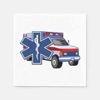 Ems-Krankenwagen Serviette