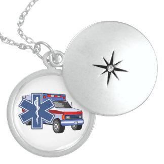 Ems-Krankenwagen Sterling Silberkette