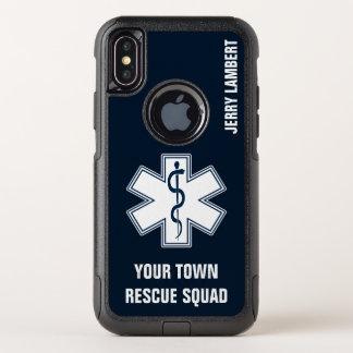 EMT EMS Sanitäter-Name und Gruppe OtterBox Commuter iPhone X Hülle