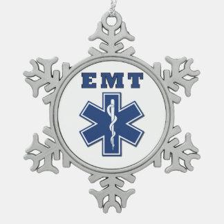 EMT Stern des Lebens Schneeflocken Zinn-Ornament