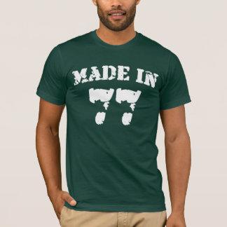En 1977 chemise faite t-shirt