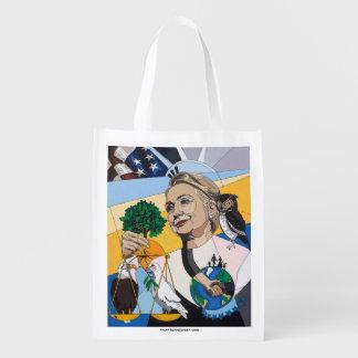 En l'honneur de Hillary Clinton Sac D'épicerie