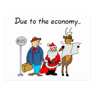 En raison de l'économie Père Noël Cartes Postales