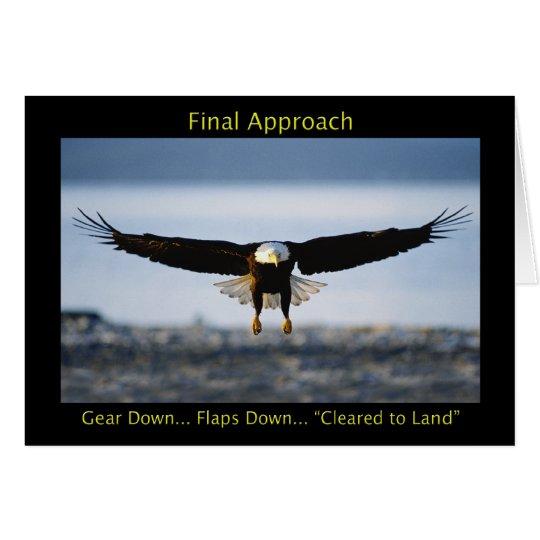 Endanflug-Weißkopfseeadler-Gruß-Karte Mitteilungskarte