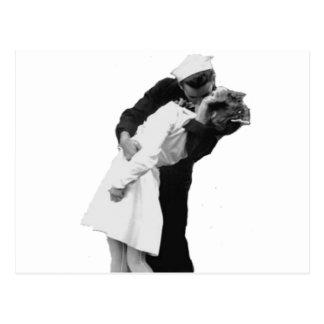 Ende des Kriegs-Kusses Postkarte