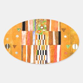 Ende Gustav Klimt der Wand Ovaler Aufkleber