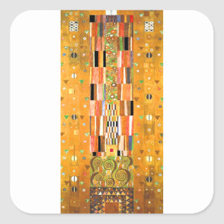 Ende Gustav Klimt der Wand Quadratischer Aufkleber