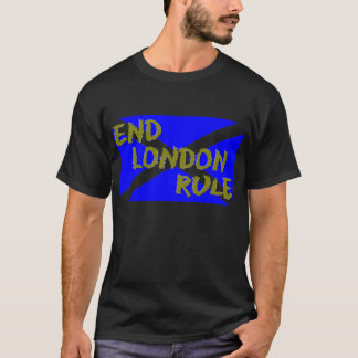 Enden-London-Regel-Schwarz-T - Shirt