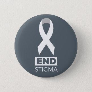 Enden-Schande für LungenkrebsPin. Runder Button 5,7 Cm