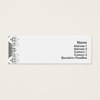 Endlose Illusionen Mini Visitenkarte