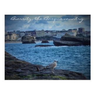 """""""Endlose Wartezeit"""" - Biarritz Postkarte"""