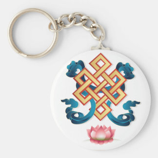 Endloser Knoten des mongolischen Religionssymbols Schlüsselanhänger