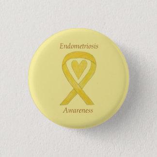 Endometriosis Awareness Heart Ribbon Custom Pin Runder Button 3,2 Cm