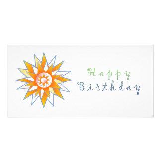 Énergie Chakra de Sun de joyeux anniversaire Cartes De Vœux Avec Photo