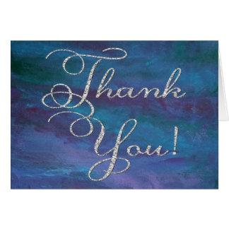 Energie danke | modernes dunkelblaues lila karte