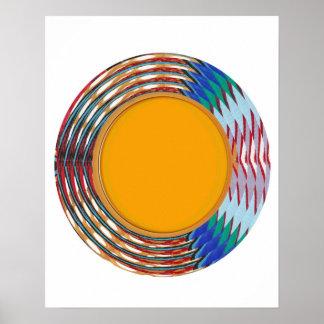 Energie gefüllter Schein:  Wellen-Kreise bunt Poster