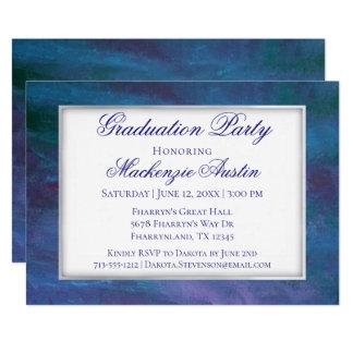 Energieblaues violettes lila aquamarines des karte