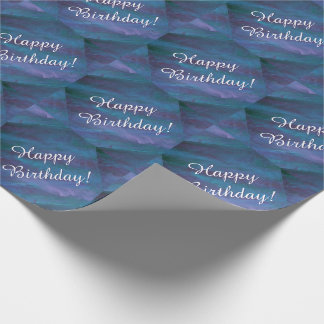 Energischer blauer lila aquamariner geschenkpapier