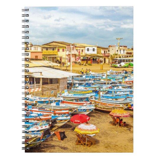 Engabao Strand an Guayas Bezirk Ecuador Spiral Notizblock