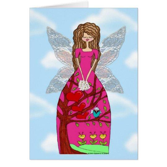 Engel Addie Grußkarte