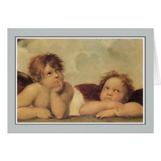 Engel, Amoren vom Sistine Madonna RAPHAEL Karte