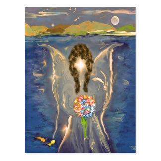 Engel auf dem Wasser Postkarte