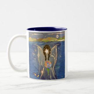 Engel auf dem Wasser Zweifarbige Tasse