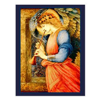 Engel, der eine Flageolett-schöne Kunst spielt Postkarte