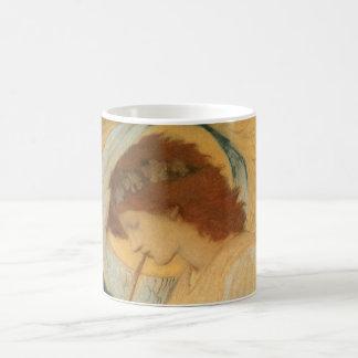 Engel, der Flageolett durch Burne Jones spielt Kaffeetasse