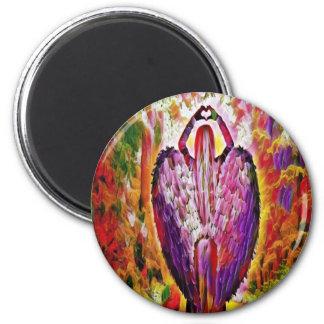 Engel der Liebe Runder Magnet 5,7 Cm