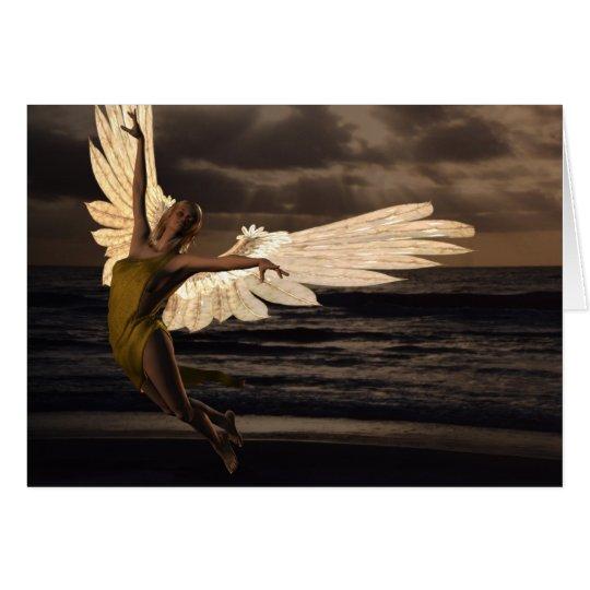 Engel des goldenen Sonnenuntergangs (freier Raum) Karte