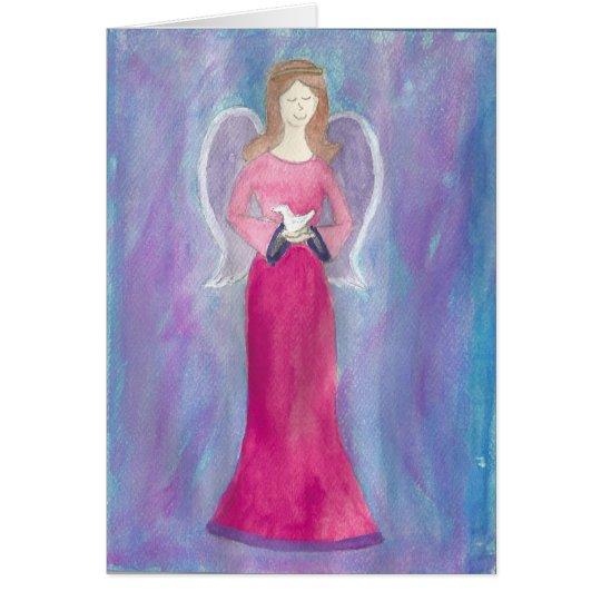 Engel im Blau… durch peacewillow Grußkarte
