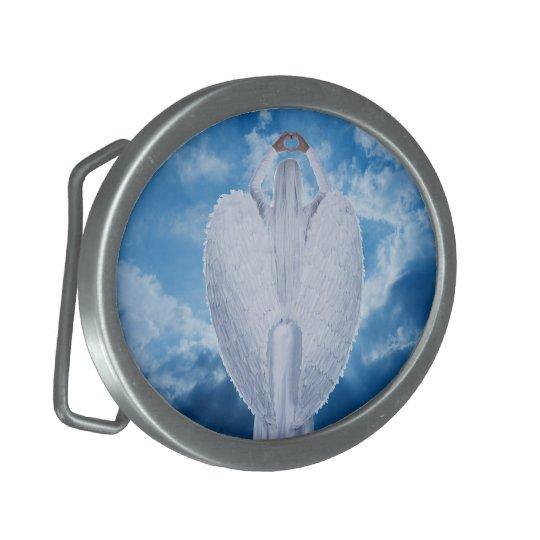 Engel in den Wolken Ovale Gürtelschnallen