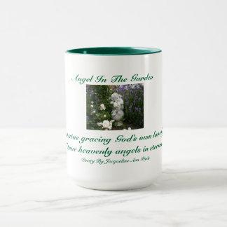 Engel in der Garten-Wecker-Tasse Tasse