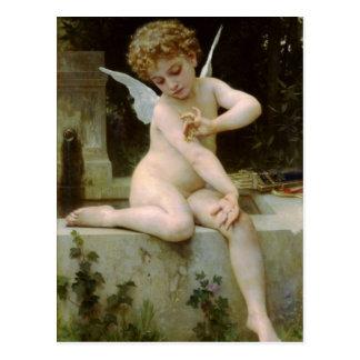 Engel mit a-Schmetterling Postkarte