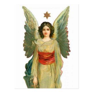 Engel mit Goldstern Postkarte