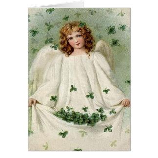 Engel mit Klee-St Patrick Tageskarte Karte