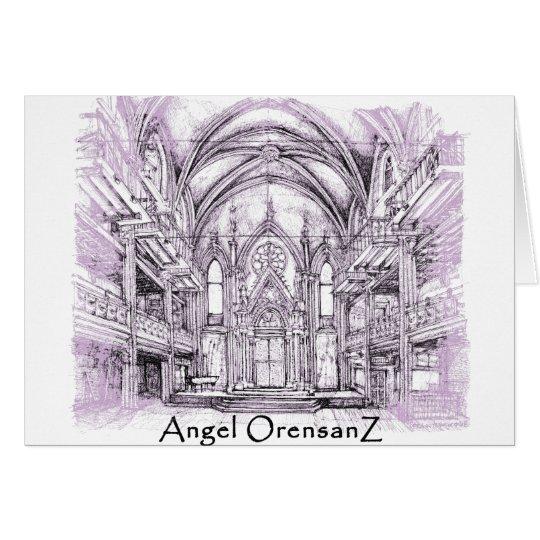Engel Orensanz Mitteilungskarte