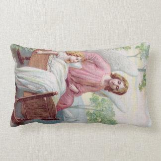 Engel Schutzengel mit schlafende Kind Lendenkissen